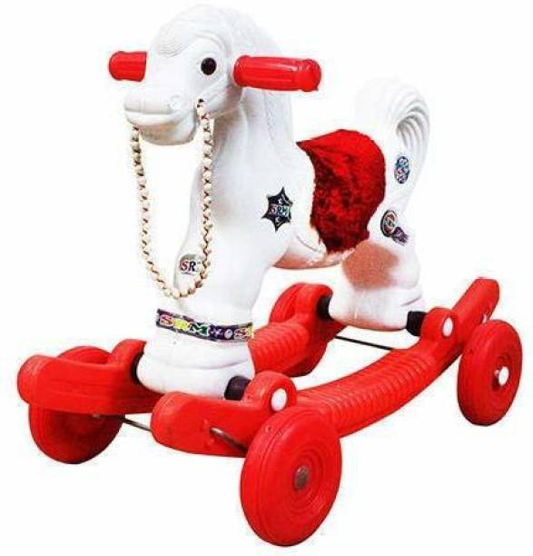 TRENDING CHOICE Little Star Baby Horse Rider for Kids (1-2.5 Years, Red and White)