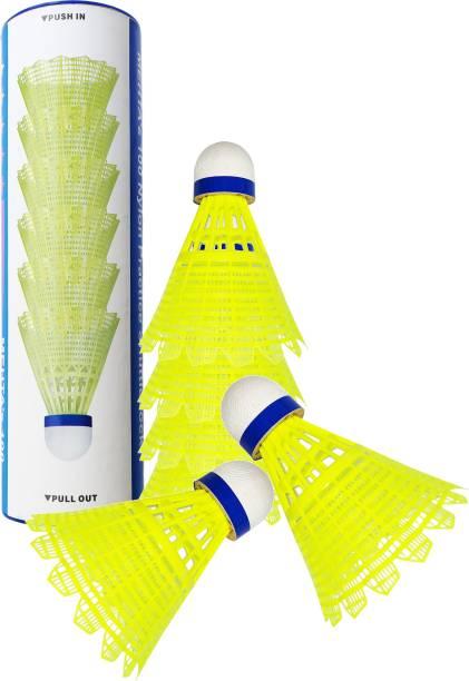 AGAMI Superior Nylon Badminton Shuttle Cane Nylon Shuttle  - Yellow