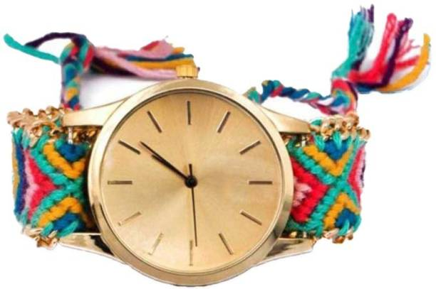 MECLUB GENEVA_FABRIC New Stylish and Attractive Analogue Quartz Movement Bracelet Type Fabric Watch for Girls and Women. Analog Watch  - For Girls