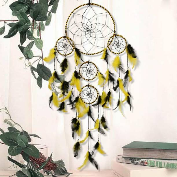 BS AMOR Dream Catcher | Wall Hangings |Home Decor| Handmade Feather Dream Catcher