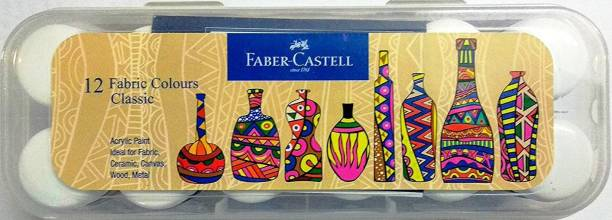 FABER-CASTELL Fabric colors 12 shades (Plastic box)