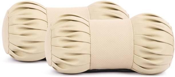 ORIENTOLUXURY Multicolor Leatherite Car Pillow Cushion for Universal For Car