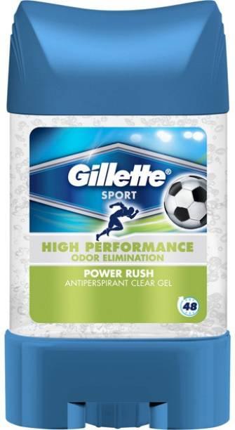 GILLETTE Power Rush Antiperspirant Gel Stick 70 Deodorant Stick  -  For Men