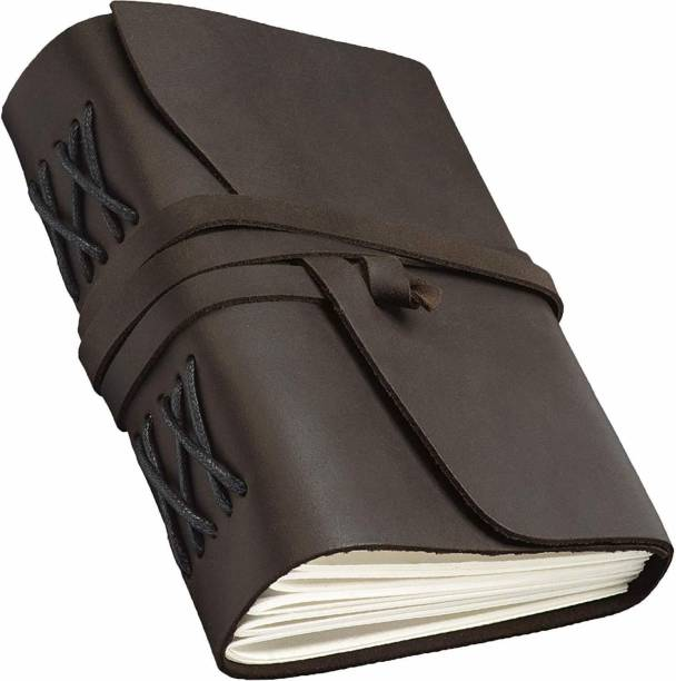DI-KRAFT Leather Diary Writing Notebook 7 x 5 inches - Antique Handmade A5 Diary Unruled 200 Pages