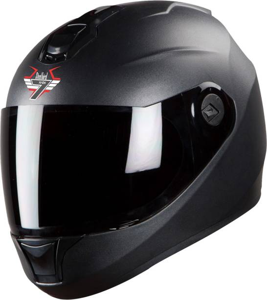 Steelbird SBH-11 7Wings Dashing Full Face Helmet Black Motorbike Helmet