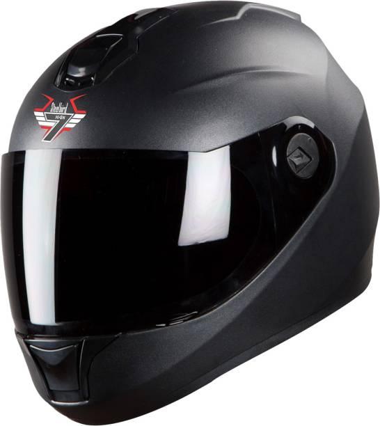 Steelbird SBH-11 7Wings Dashing Full Face Helmet Black Motorbike Helmet