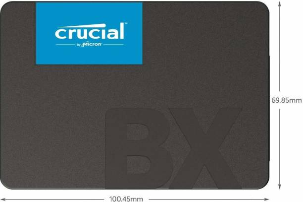 Crucial BX500 480 GB Desktop, Laptop, Servers, Network Attached Storage Internal Solid State Drive (BX500)