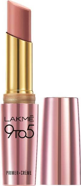Lakmé 9To5 Primer + Crme Lip Color, Nude Dust CP10