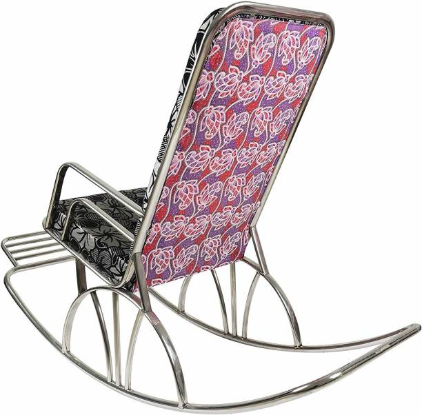 IRA Rocking Steel Chair with Cushion Metal 1 Seater Rocking Chairs