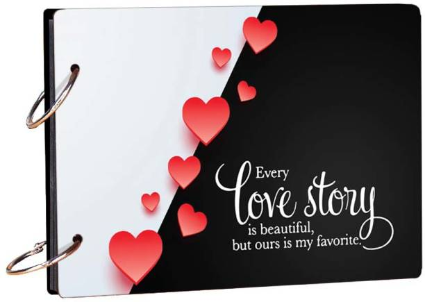 100yellow Love Story 20 pages Scrapbook Theme,  Scrapbook Kit
