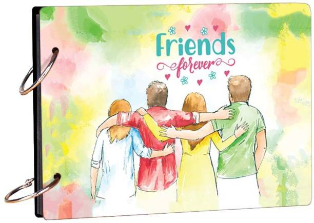 100yellow Friends Forever 20 pages Theme,  Scrapbook Kit