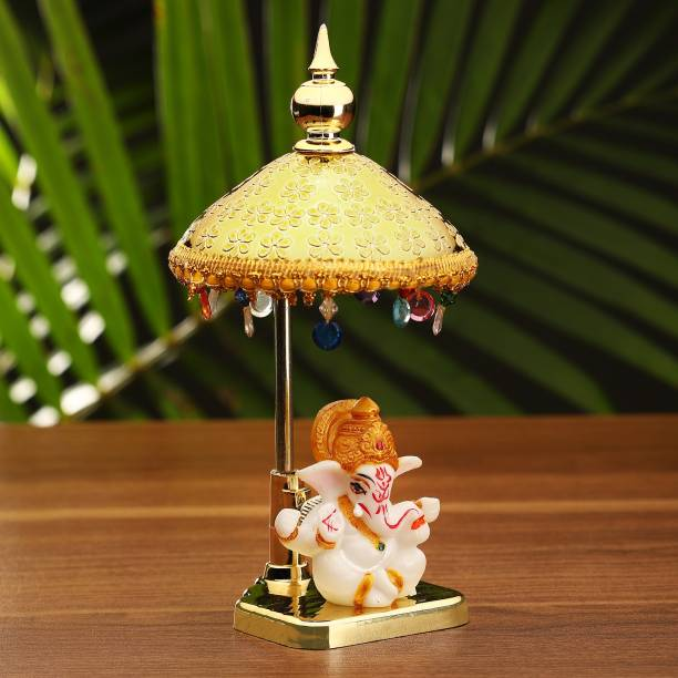 Craft Junction Handcrafted Lord Ganesha on Temple Decorative Showpiece  -  19 cm