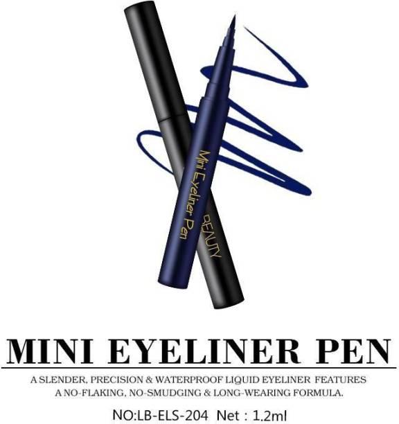 lakyou beauty waterproof longlasting mini pen eyeliner black & blue 1.2 ml