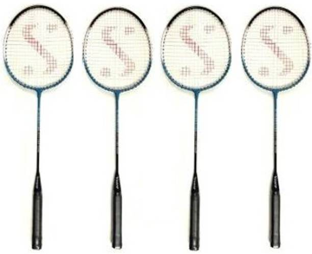 Monika Sports 20-20 Single shaft ( Set of 4 ) Multicolor Strung Badminton Racquet