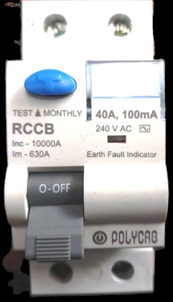 Polycab rccb rccb 40/2 MCB