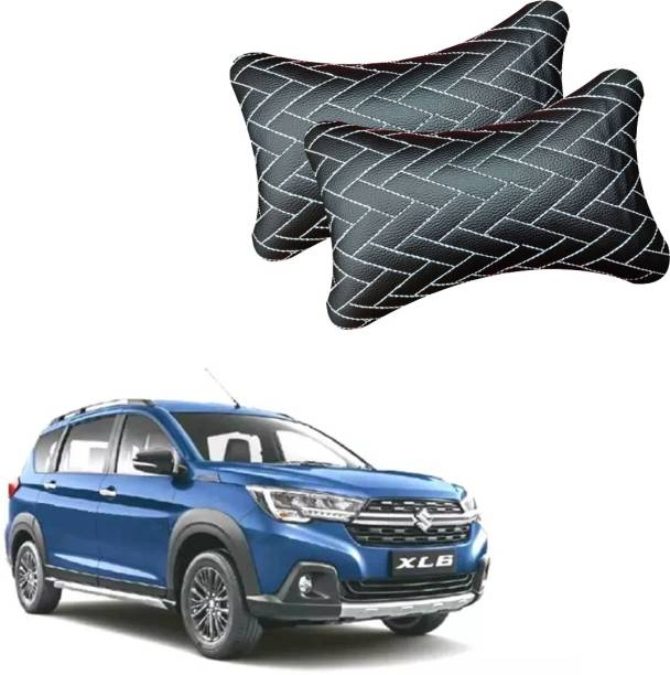 AdroitZ Black Leatherite Car Pillow Cushion for Universal For Car