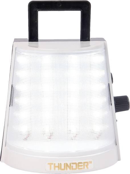 THUNDER PREMIUM LED LIGHT White Plastic Hanging Lantern