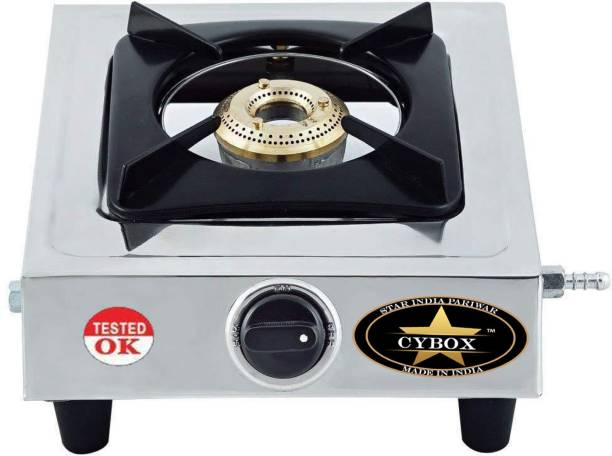CYBOX Heavy Quality Stainless Steel Stainless Steel, Brass Manual Gas Stove