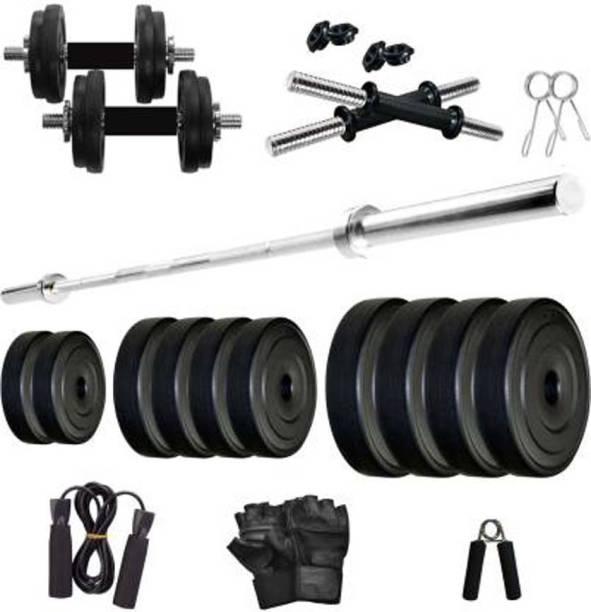 sai kirpa traders 2.5 Kg X 4 =10 KG PVC weight Plates Gym & Fitness Kit