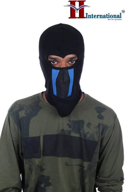 H International Black Helmet Skull Cap for Men & Women