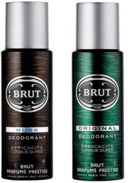 BRUT ORIGINAL AND MUSK PACK OF 2 Body Spray  -  For Men & Women