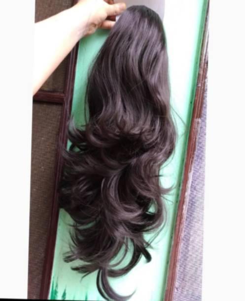 Alizz Beautiful dark brown multi step cut hair Hair Extension