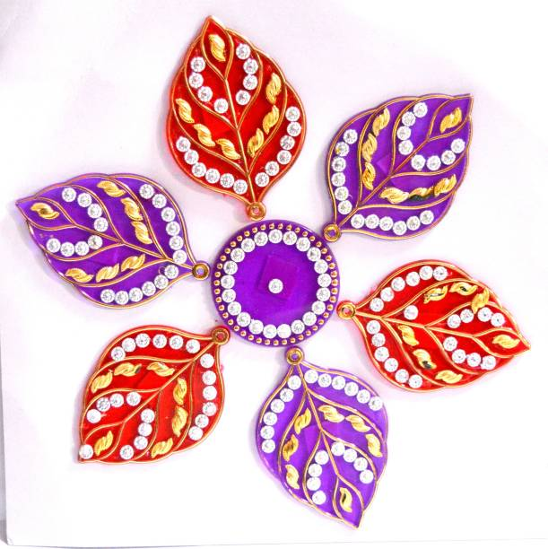 ONRR Collections Medium Acrylic Rangoli Sticker 6x6 light purple pack of 1