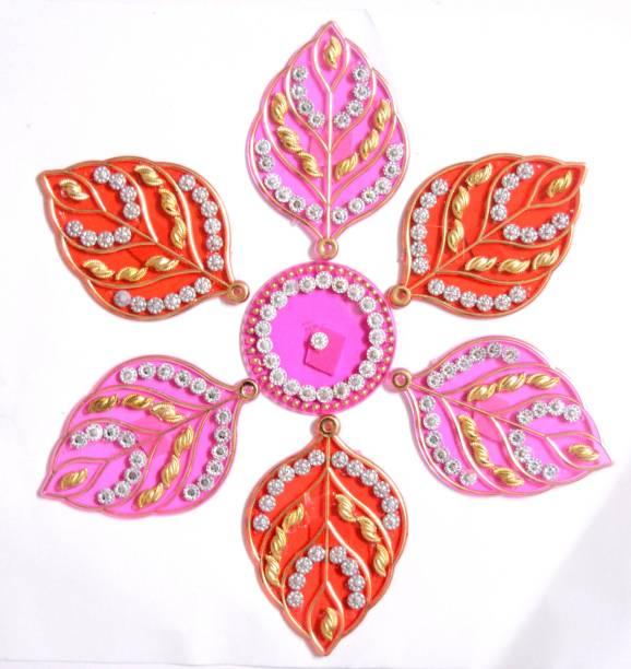ONRR Collections Medium Acrylic Rangoli Sticker 6x6 Pink