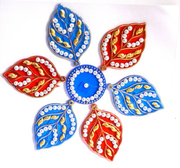 ONRR Collections Medium Acrylic Rangoli Sticker 6x6 Blue&Red pack of 1