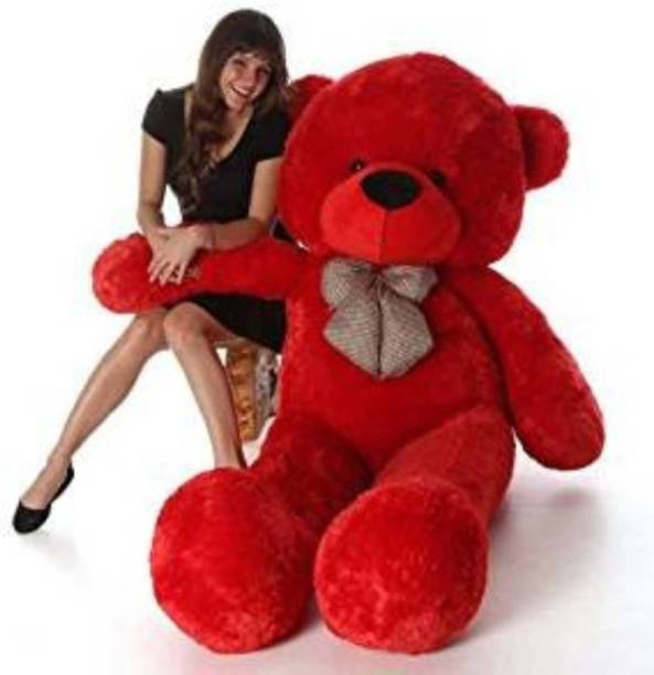 Mrbear Extremely soft and huggable bear with a heavenly plush red coat. Its big brown  - 90.03 cm
