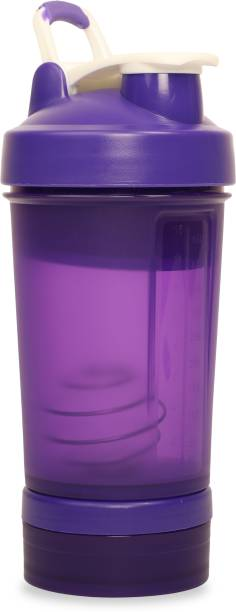 Tuelip Shaker Bottle with Storage Compartment and Pill Tray 500 ml Shaker