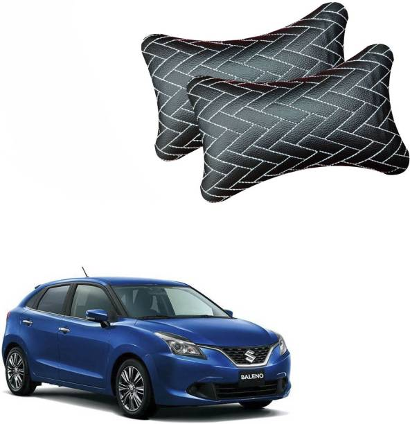 AdroitZ Black Leatherite Car Pillow Cushion for Maruti Suzuki