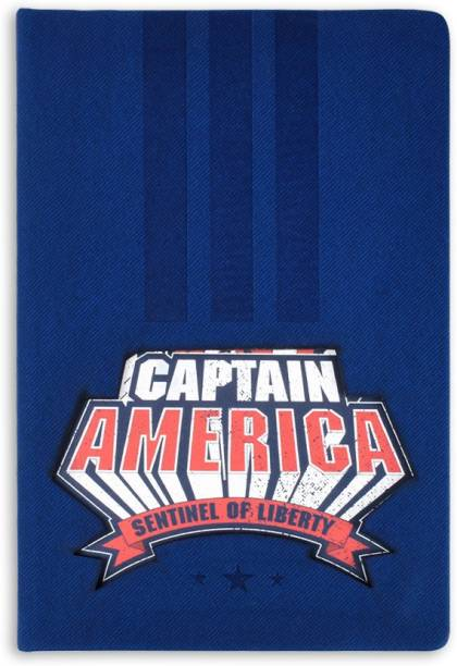 doodle Captain America (Lasercut) Notebook A5 Notebook Ruled 192 Pages