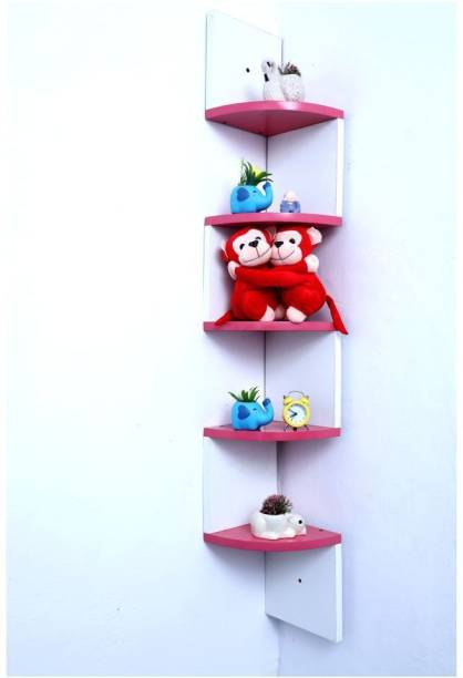all crafts art Zig zeg wall shelf Engineered Wood Display Unit