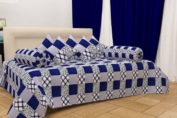 DECOR VATIKA Polycotton Checkered Diwan Set