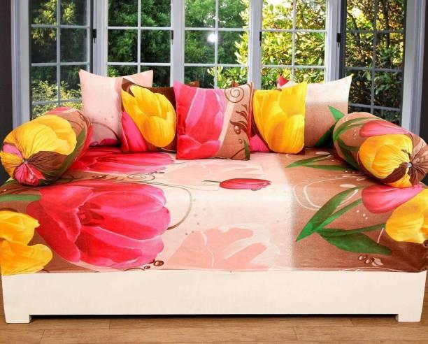 DECOR VATIKA Polycotton Floral Diwan Set