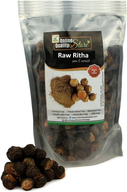 Online Quality Store Raw Reetha For Hair Natural (Ritha) Dried Form_100g