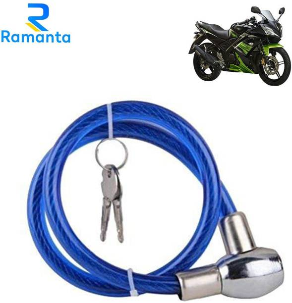 Ramanta Stainless Steel Cable Lock For Helmet
