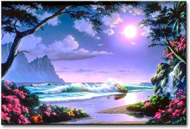 Pintura Pintura Canvas Painting With UV print of scenic beauty Painting with wooden frame # Art Print # Best for Gifting # Exclusive Designs # High Quality # Dimensions 18 Inch X 12 Inch Canvas 12 inch x 18 inch Painting