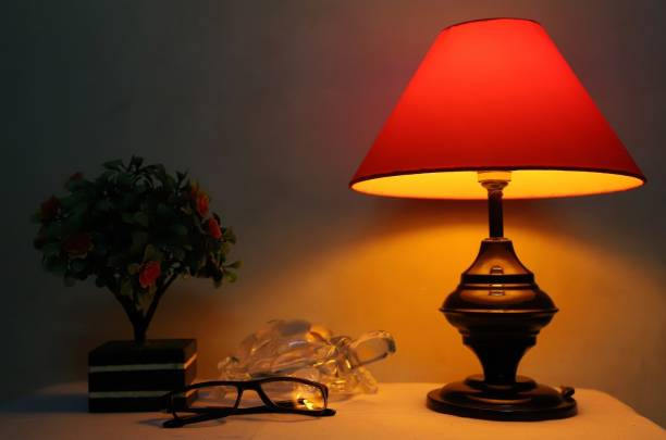 CANDELA Conical Shade Table Lamp (Red) Table Lamp