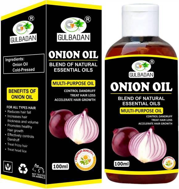 GULBADAN 100% Pure ONION Herbal Hair oil- Blend of 14 Natural Oils For Hair Hair Oil
