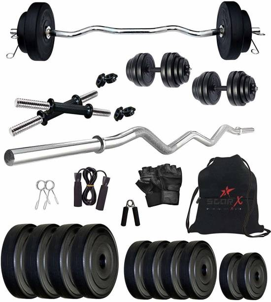 Star X 20 Kg Home Gym Combo with Rods, Dumbbells and Accessories Gym & Fitness Kit