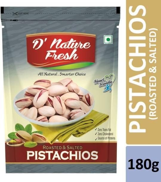 D NATURE FRESH Roasted & Salted Pistachios 180g Pistachios