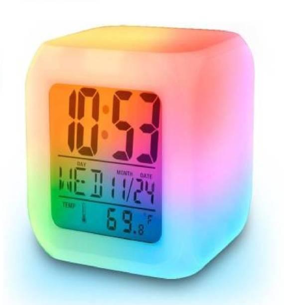 CRIYALE Digital Multicolor Clock