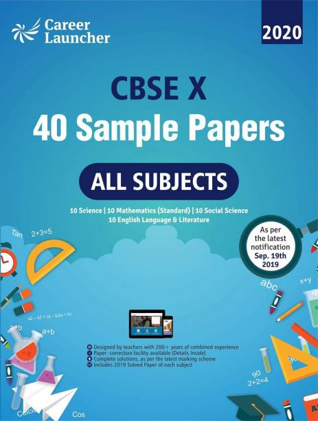 Cbse Class X 2020 40 Sample Papers 3 Edition