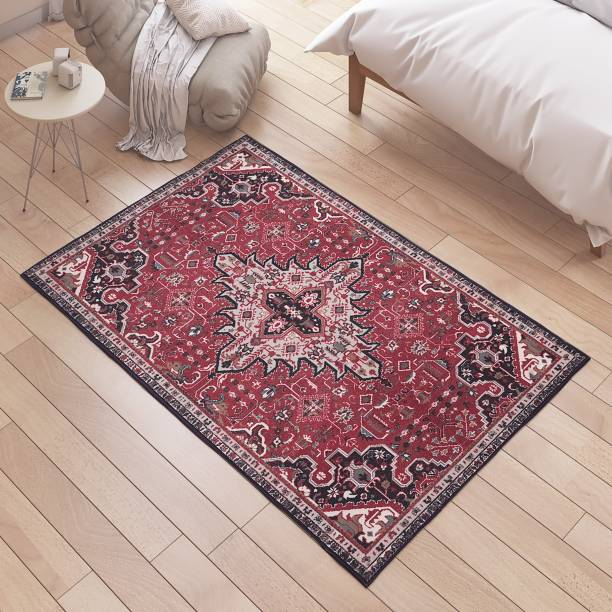 Flipkart Perfect Homes Multicolor Polyester Area Rug