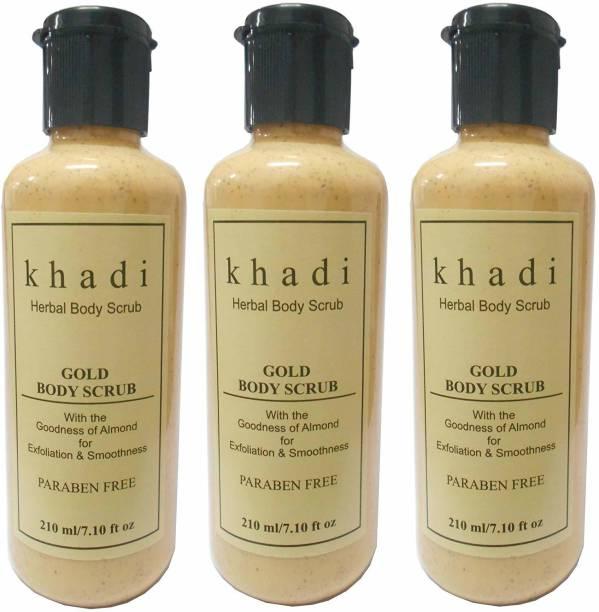 Khadi Herbal Gold Body Scrub 3