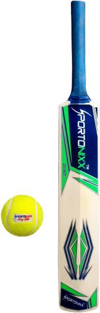 Sportonixx NINJA kids cricket bat size 5 with 1 ball for10-11 year age (Kids popular willow cricket bat tennis ball combo) Cricket Kit