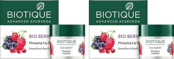 BIOTIQUE Bio Berry Plumping Lip Balm (Pack of 2) Berry