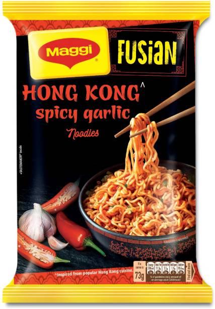 Maggi Fusian Hong Kong Spicy Garlic Instant Noodles Vegetarian